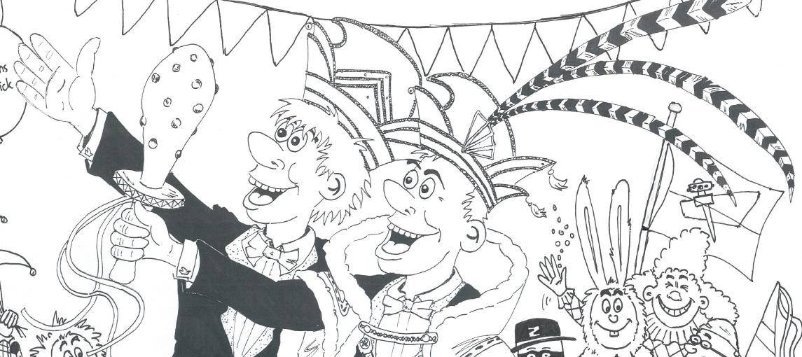 Kleurplaten Van Prins Carnaval.Kleurplaat Prins Nick En Adjudant Martijn Cv De Dorper Kuus